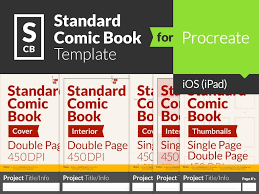 comic book page template for procreate