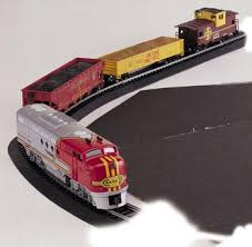 santa fe flyer set ho scale model set 00647 by bachmann 00647