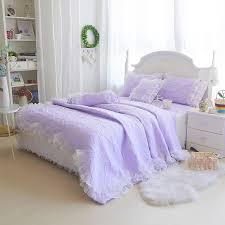 Girls Quilted Bedding by Girls Lavendar Purple Tulle Frilly Quilt Bedding Sets Girls Lace