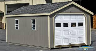 1 car prefab garage one car garage horizon structures