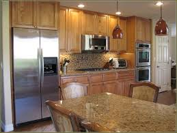 Kitchen Design Oak Cabinets by Furniture Oak Wood Costco Cabinets With White Countertop Island