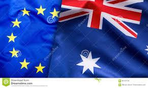 Ustralia Flag Flags Of The Australia And The European Union Australia Flag And