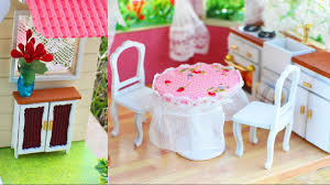 Doll House Furniture How To Make Miniature Dollhouse Furniture Youtube