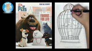 secret pets coloring book sticker activity golden