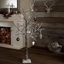 twig christmas tree winter pre lit 160cm christmas twig tree with snow effect
