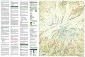 Olympic National Park Map Mount Rainier National Park National Geographic Trails