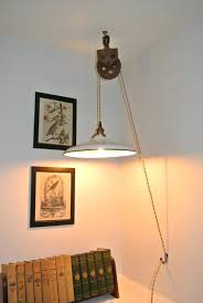 Pulley Pendant Light Pulley Pendant Lighting Industrial Decoration In Hanging
