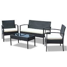 idsonlinecorp 4 piece rattan sofa set with cushions u0026 reviews