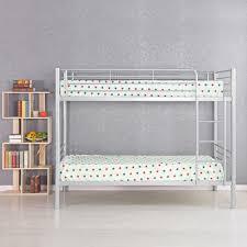 Metal Bunk Bed Frame Silver Ikayaa Modern Single Over Single Metal Bunk Bed Frame With
