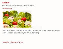 round table salad bar menu at round table pizza restaurant spring valley co rd