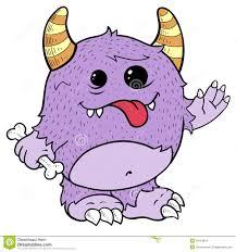 Monsters For Halloween by Cute Purple Monster Illustration Stock Images Image 20164894