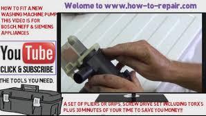 how to change a washing machine pump balay bosch neff u0026 siemens