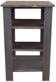 end table with shelves tall end table with shelves shelves pine furniture and furniture