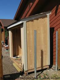 How To Build A Shed Roof House by Lean To Shed Plans Easy To Build Diy Shed Designs