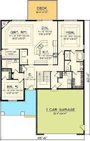 narrow home floor plans easy to build 2 bed home plan 89819ah craftsman northwest