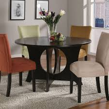 Birch Kitchen Table by Coaster Company Castana Dark Birch Wood Round Dining Table By