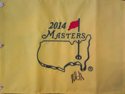 Pin Flags Bubba Watson Autographed 2014 Masters Golf Pin Flag Pga Tour