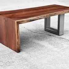 waterfall coffee table wood scott kestel brandmojo interiors llc archdale nc