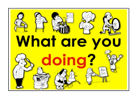 present continuous verbs what are you doing easy english
