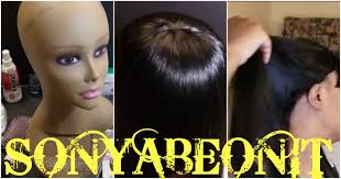 hair under ears cut hair no more headaches customized cut out ears wig e6000 glue youtube