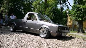 volkswagen rabbit truck lifted air ride caddy mk1 youtube