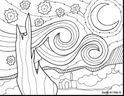 creative design starry night coloring page the home coloring pages