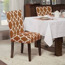 Orange Parsons Chair Homepop Dots Parson Chairs Set Of 2 Free Shipping Today