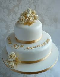 gold and elegant 50th anniversary cake decoration idea decoration gold and white 50th anniversary cake idea