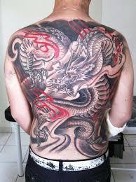 back dragon tattoo