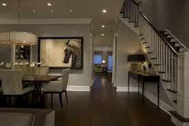open floor plan lighting dining room traditional with shade