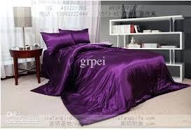 Purple Full Size Comforter Sets Luxury 100 Cotton King Queen Size Bedding Set Purple 4pcs Duvet