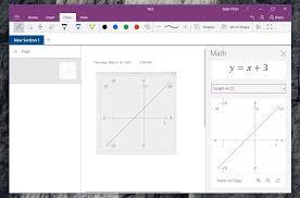 onenote u0027s windows 10 app brings the ability to graph math
