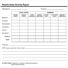 Daily Sales Report Template Excel Free Sle Sales Report Exle Format