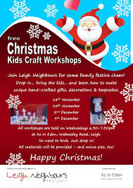 free christmas craft workshops for the family