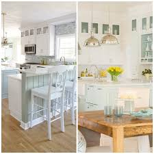 kitchen style pastel blue and white charming beach themed kitchen