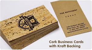 Cool Shaped Business Cards Cork Business Cards From Jukebox Print