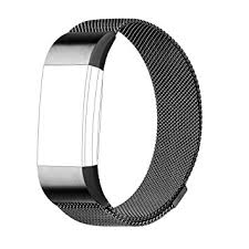 steel bracelet images For fitbit charge 2 strap bands replacement milanese loop jpg