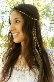 hair crystals chain headpiece chain headdress feather headpiece with