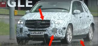 second mercedes second generation mercedes gle class shows grille and side skirts