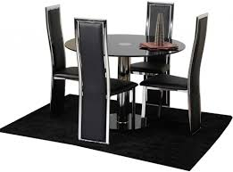 Black Dining Room Sets For Cheap by Set Of 4 Italian Upholstered Parsons Living Room Dining Chairs At