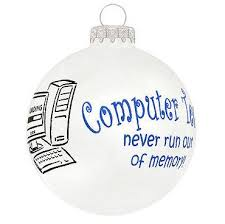 computer tech glass ball ornament christmas store