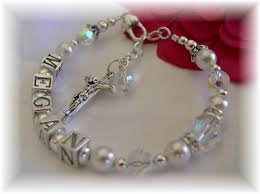baby rosary bracelet addictivejewelry baby baptism jewelry communion jewelry