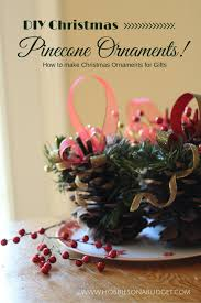 diy christmas pinecone ornaments