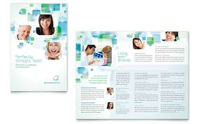 office brochure templates orthodontist brochure template design