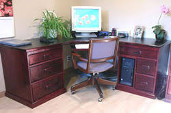 computer corner office desk woodworking plans