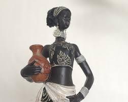 african statue woman doll figure tribal art decor masai