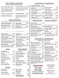 redds biergarten menu redds biergarten