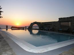 pool area mykonos villa enea fanari