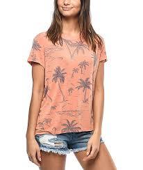 rvca suspension palm tree t shirt zumiez