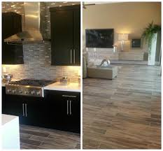 flooring inspiring kitchen with emser tile flooring and black